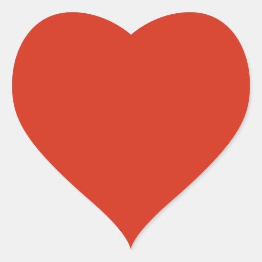 Plain Red Background. Heart Sticker
