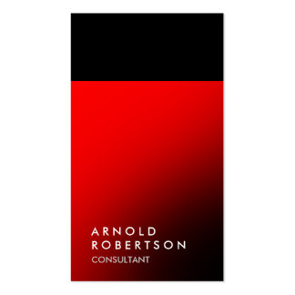 Plain Red Black Trendy Consultant Business Card