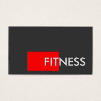 Plain Red Gray Fitness Trainer Business Card