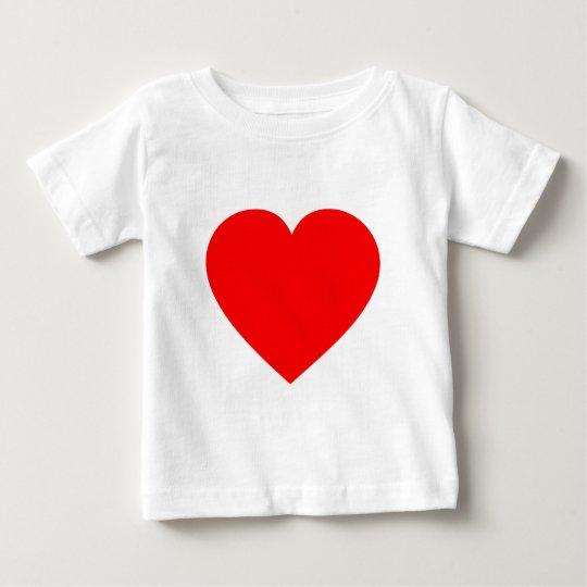 Plain Red Heart Baby T-Shirt
