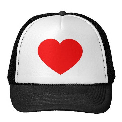 Plain Red Heart Mesh Hats