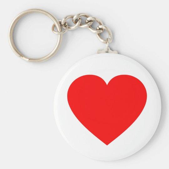 Plain Red Heart Keychain