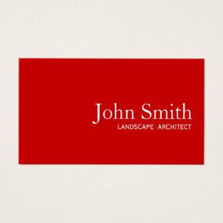 Plain Red Landscape Architect Landscaping Business Card