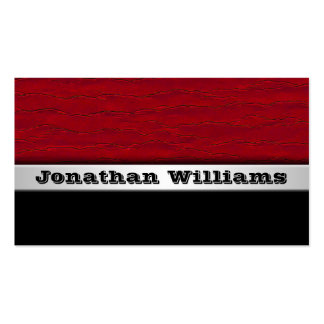 Plain Red Modern Professional Business Cards Business Card