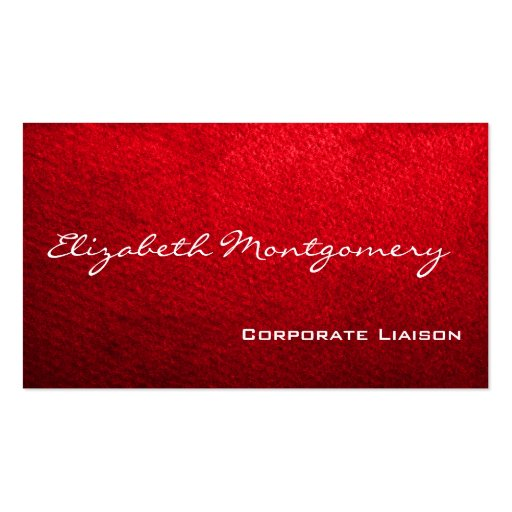 Plain Red Modern Professional Business Cards
