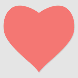 Plain Red Orange Shade: Add text or image Heart Sticker