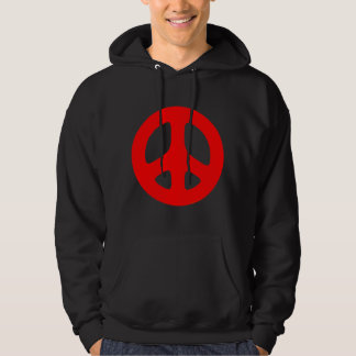 Plain Red Peace Sign Top