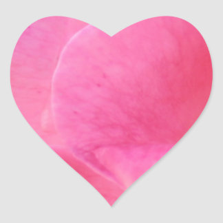 Plain RED PINK PURPLE shades Flower Petal Heart Sticker