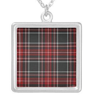 Plain Red Plaid Necklace