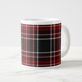 Plain Red Plaid Tartan Specialty Mug 20 Oz Large Ceramic Coffee Mug