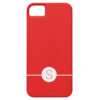 Plain Red White Monogram - Minimalist iOS 8 Style iPhone 5 Covers