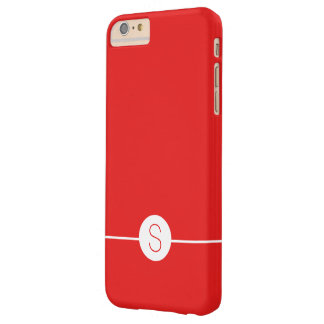 Plain Red White Monogram - Minimalist iOS 8 Style Barely There iPhone 6 Plus Case