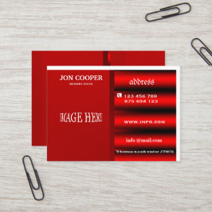red background business cards zazzle