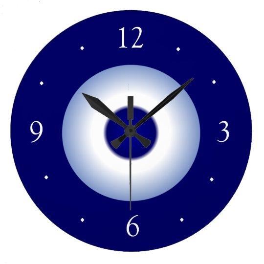 Royal Blue Kitchen: Plain Royal/Blue And White Plain Kitchen Clock