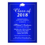 Plain Royal Blue Class Of 2016 Graduation Party Card