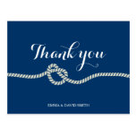 Plain Royal Blue Tying the Knot Thank You Cards Postcard