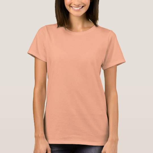 Plain salmon pink t-shirt for women, ladies | Zazzle.com