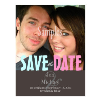 Plain, Save the Date Photo postcards,