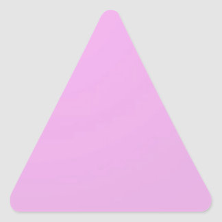 Plain Shade Pink: Write on or add image Triangle Sticker