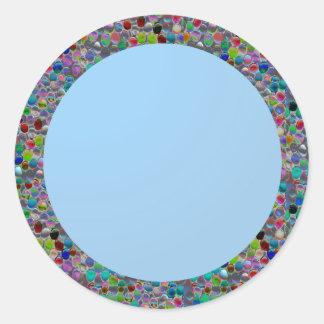 Plain Shades : Baby Blue Classic Round Sticker