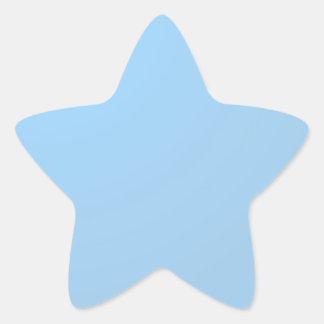 Plain Shades : Baby Blue Star Sticker