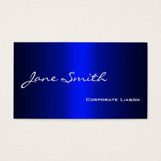 Plain Shades of Blue Modern Standard Business Card