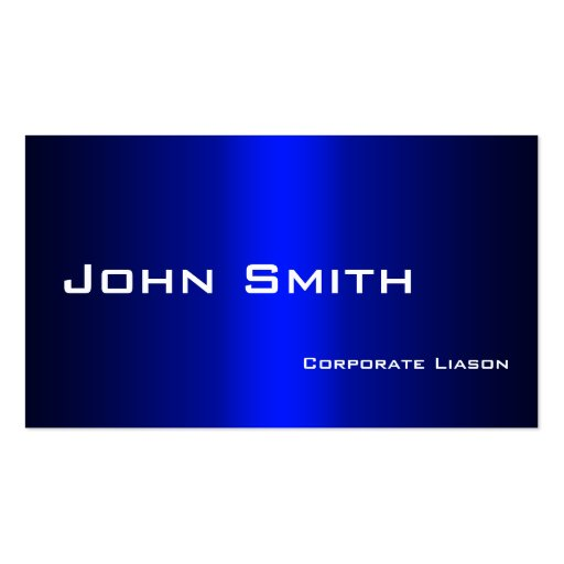 Plain Shades of Blue Professional Business Card