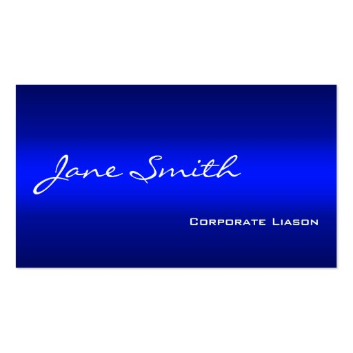 Plain Shades of Blue Professional Business Cards Business Cards