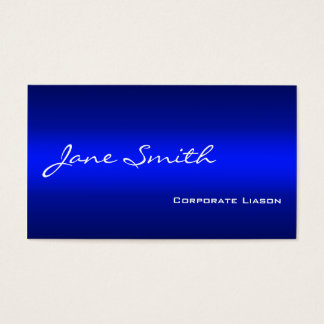 Plain Shades of Blue Professional Business Cards