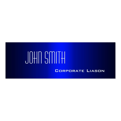 Plain Shades of Blue Slim Modern Business Cards Business Card Templates