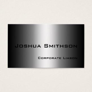 Plain Shades of Grey Modern Standard Business Card