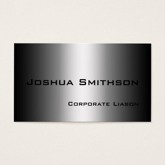 Plain Shades of Grey Modern Standard Business Card