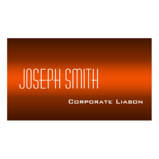 Plain Shades of Orange Modern Business Cards