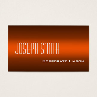 Plain Shades of Orange Modern Business Cards