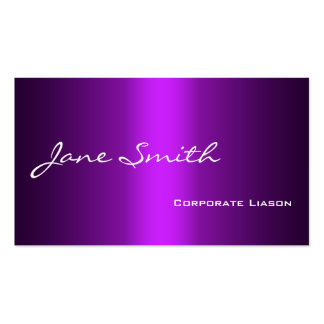 Plain Shades of Purple Professional Business Cards