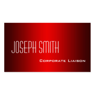Plain Shades of Red Professional Business Cards Business Card
