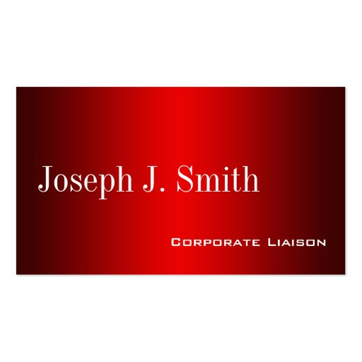 Plain Shades of Red Professional Business Cards Business Card Templates