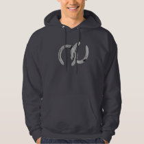 Plain Silver Horse Shoes Hoodie
