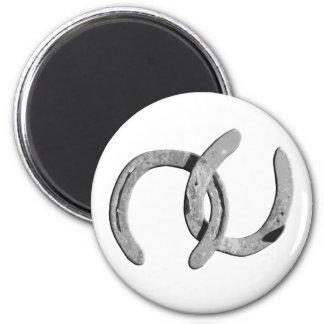 Plain Silver Horse Shoes Magnet