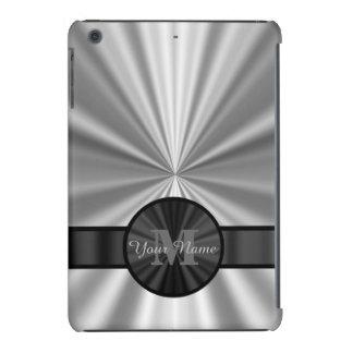 Plain silver personalized monogram iPad mini covers