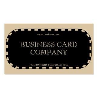 Plain Simple Beige Black Elegant Classy 2DB Business Card
