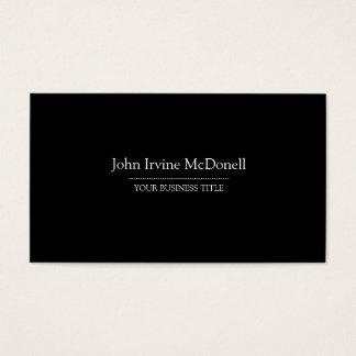 Plain & Simple Black Business Card