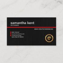 Plain Simple Black Light Grunge Businesswoman CEO Business Card