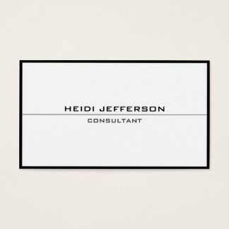Plain Simple Black White Frame Border Attractive Business Card