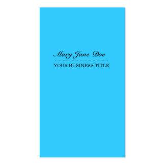 Plain & Simple Bright Blue Vertical Business Card