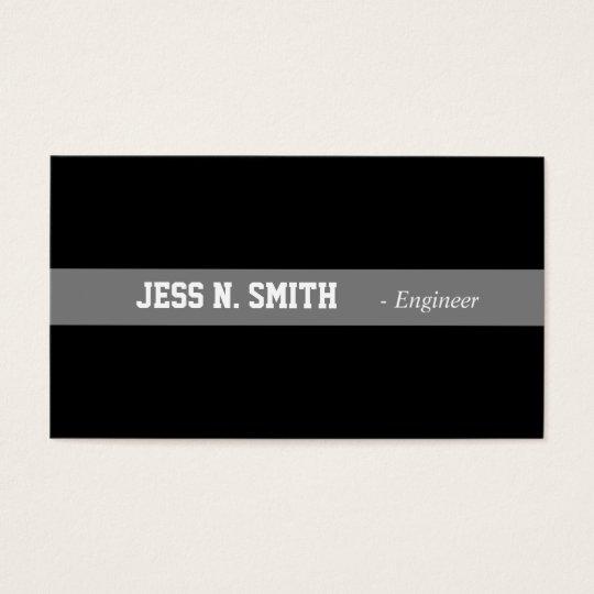 Plain,simple,elegant black business card. business card