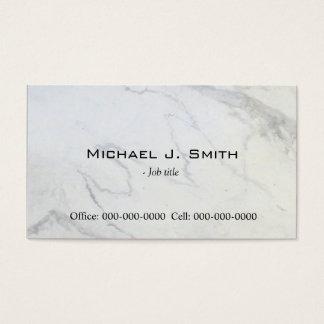 Plain,simple,elegant marble  business card. business card