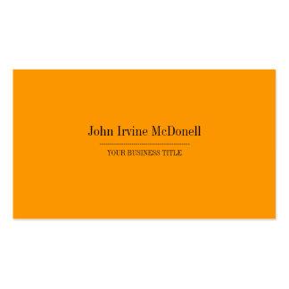 Plain & Simple Golden Yellow Business Card