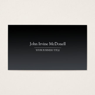 Plain & Simple Gradient Black Business Card