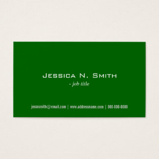 plain, simple,green business cards